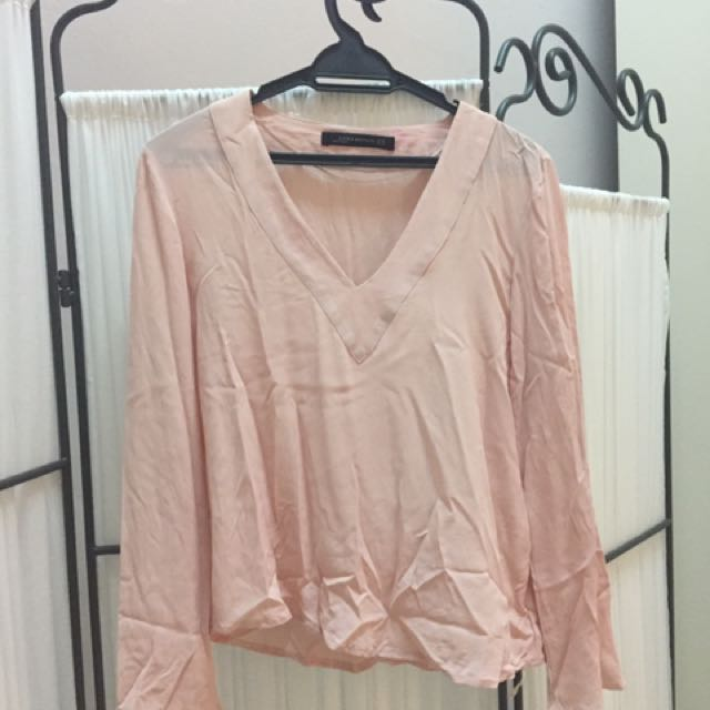 Zara Salmon Top