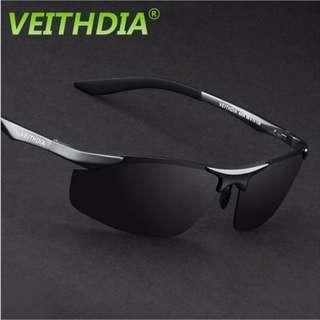 VEITHDIA Aluminum Magnesium Polarized Sunglasses Men