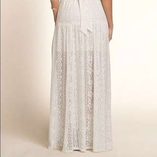 BNWT HOLLISTER LACE WHITE MAXI SKIRT