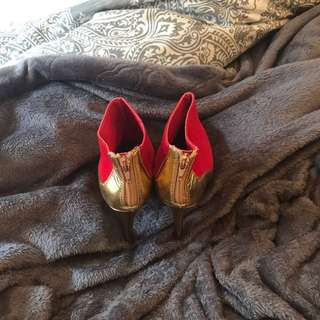 Red&gold Booties