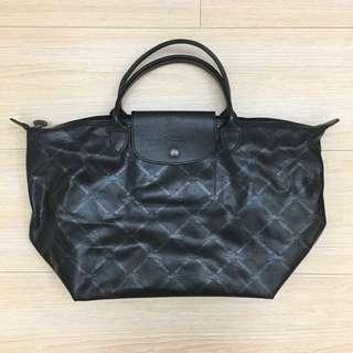 Longchamp 60週年復刻版LM系列 黑色手提包