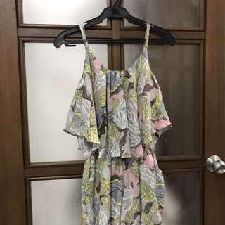 Floral Romper From Korea