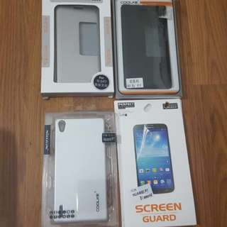 THREE Huawei P7 Ascend 5-in-1 Phone cover and TWO screen protector #hargaruntuh60