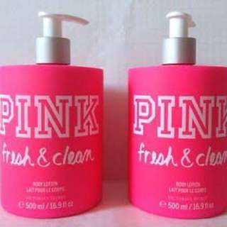 Victoria's Secret 1x Pink Fresh And Clean Body Lotion