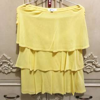 PANELLI Yellow Skirt