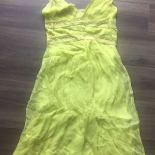 French Connection Yellow Dress