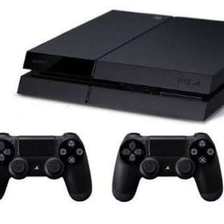 PS4 with Two Controllers And PES 2017 and Far Cry 5