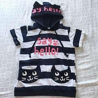 Super Cute Kitty Tee Hoodie