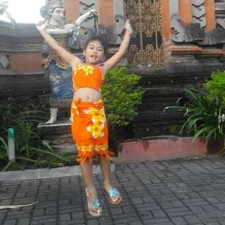 Kain Bali Orange