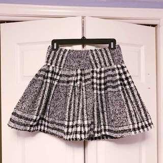 Wool Check Skirt Size XS