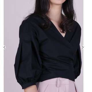 Thetinselrack TTR Minx Wrap Blouse In Black BNWT