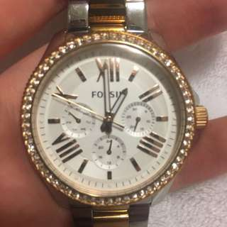 Fossil Rose Gold And Silver Watch