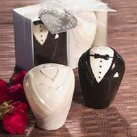 Groom and Bride Salt and Pepper Shaker