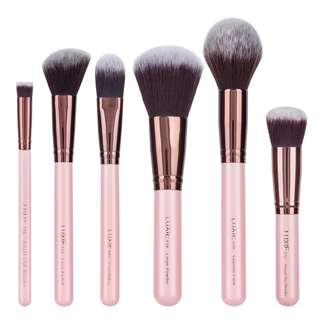 Pink Gold 5 Pcs Kabuki / Face Brush Set