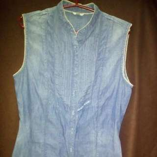 REPRICED!! Guess Maong Blouse