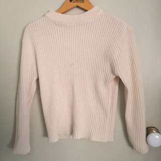 Cream Knit Top Size S