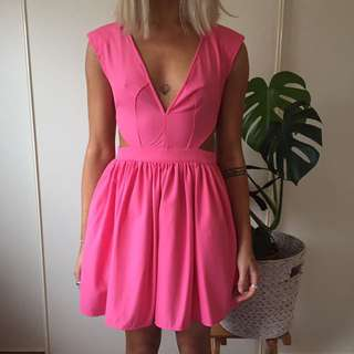 Pink Party Dress, Size 6