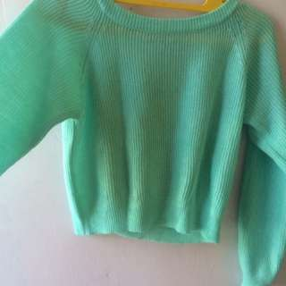 sweater rajut croptee