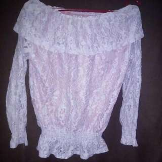 REPRICED!! Pink Lace Offshoulder
