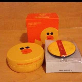 韓國 MISSHA 魔法氣墊粉餅(麗莎保濕款) 15g #21號 內含:氣墊粉餅*2粉撲*2