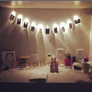 10 LED Card Photo Clip Lights