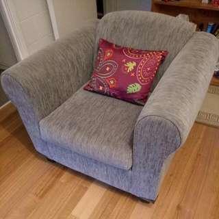 Grey Arm Chair