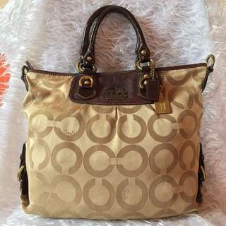 Authentic Coach Golden Silky Large Bag