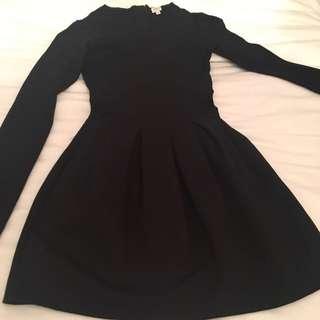 Aritzia Wilfred Black Long Sleeve Dress