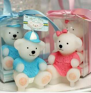 Baby Bear Candles