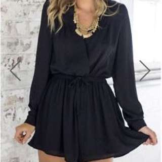 SHOWPO Lost Time Playsuit In Black