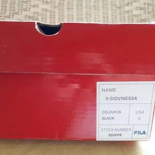 Fila US 8 Black Sneakers (Free Shipment Fee)