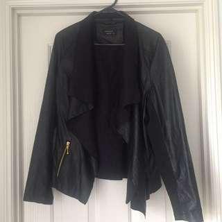 SZ14 Black Leather-Look Jacket