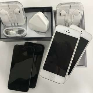 IPHONE 5 32GB BLACK AND WHITE COLOUR ORIGINAL APPLE COMPLETE BOX SET