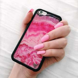 wildflower pink stone iphone 6s case