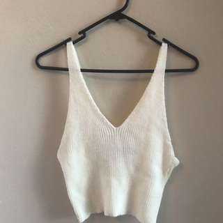 Knitted Cream Crop