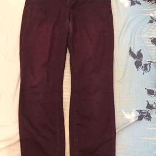 High Waist Maroon Pants #ClearanceSale
