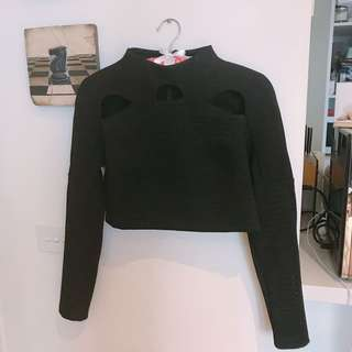 Alice McCALL Long Sleeve Crop Top (size 8)
