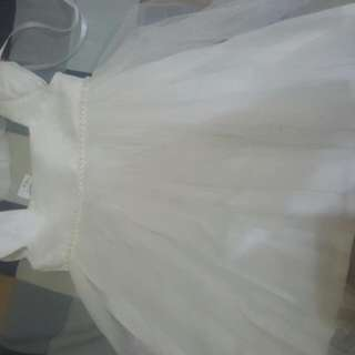 Baptismal Dress With Headband And Hat