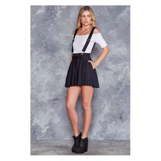 Pinafore Pocket Skater Skirt - Black Milk (S)