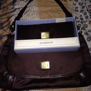 (Repriced)Liz Claiborne Hand Bag And Wallet
