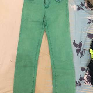 Green Skinny Jeans #ClearanceSale