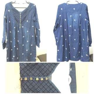 Maternity Dress (Denim)