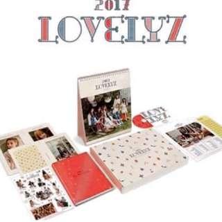 Lovelyz 2017桌曆 (不含日記本)