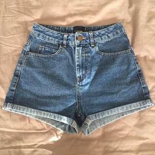 Asos Petite Blue Denim Shorts
