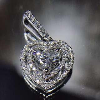 18K白金鑽石吊墜/18K Gold Diamond Pendant