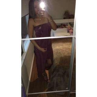 Ally Fashion Maroon Long Dress