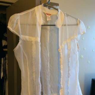 Sheer White Guess Top