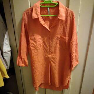 Orange Blouse - Long