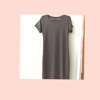 Alison Bel Fitted Gray Maxi Dress