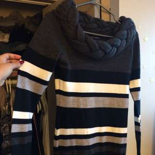 Comfy Striped Sweater Dress